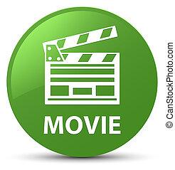 ακροτομώ , ταινία , κουμπί , icon), πράσινο , μαλακό , στρογγυλός , (cinema