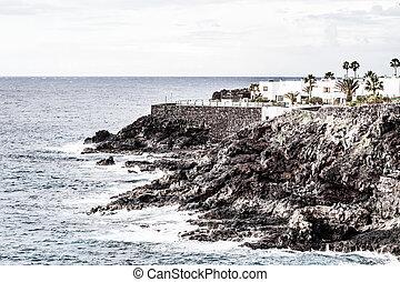 ακτή , ισπανία , θάλασσα , tenerife