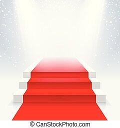 ακτίνα , βήμα αρχιμουσικού , φωταψία , searchlights., χαλί υποδοχής