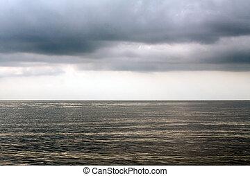 ακτίνα , θαμπάδα , θυελλώδης , πάνω , ηλιακό φως , θάλασσα
