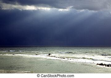 ακτίνα , καταιγίδα , ηλιακό φως , μετά