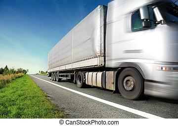 ακτίνα φωτός ανοικτή φορτάμαξα , οδήγηση , επάνω , εξοχή ,...