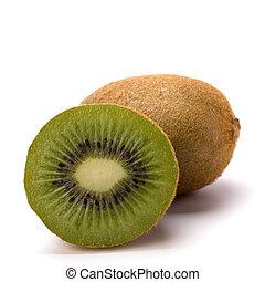 ακτινίδιο , άσπρο , φρούτο , απομονωμένος , φόντο