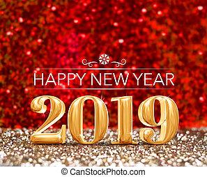 ακτινοβολώ , card., χρυσός , ), (, αριθμόs , αφρώδης , χαιρετισμός , απόδοση , στούντιο , φόντο , έτος , 2019, ευτυχισμένος , καινούργιος , κόκκινο , 3d