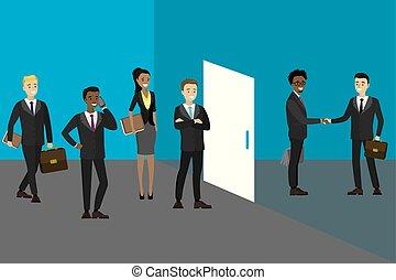 ακόλουθοι αρμοδιότητα , αναμονή , γραφείο , συνάντηση