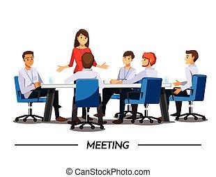 ακόλουθοι αρμοδιότητα , χαρακτήρας , καφετέρια , εικόνα , μικροβιοφορέας , σύνολο , γελοιογραφία , συνάντηση