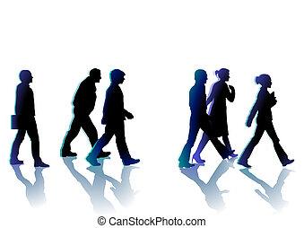 ακόλουθοι βαδίζω