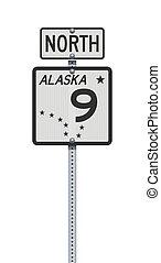 αλάσκα , σήμα , αναστάτωση δρόμος , εθνική οδόs