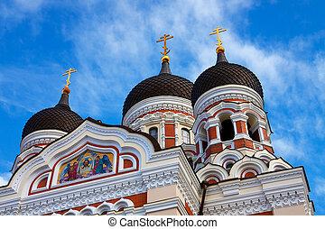 αλέξανδρος , nevsky, καθεδρικόs ναόs , μέσα , talllinn,...