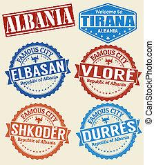 αλβανία , άστυ , αποτύπωμα , θέτω