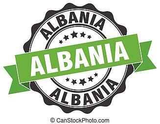 αλβανία , στρογγυλός , ταινία , σφραγίζω
