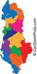 αλβανία , χάρτηs