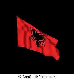 αλβανία , flag., εικόνα , μικροβιοφορέας , πτερύγισμα ,...
