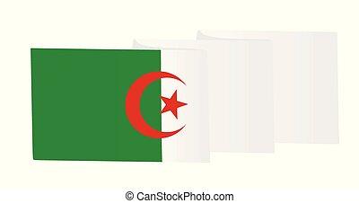 αλγερία , εθνική σημαία