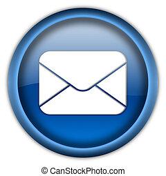 αλληλογραφία , κουμπί , φάκελοs , εικόνα