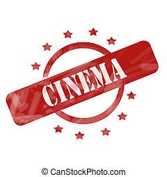 αλλοιώνω με έκθεση στον αέρα , κινηματογράφοs , γραμματόσημο , σχεδιάζω , αστέρας του κινηματογράφου , κύκλοs , κόκκινο