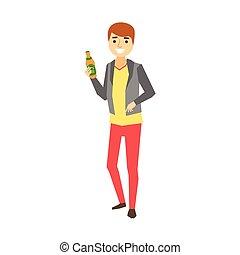 αλλόκοτος ακόλουθοι , σειρά , μεθυσμένος , μπύρα , τμήμα , αστείο , πάρτυ , άντρας , μπουκάλι , έχει