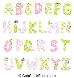 αλφάβητο , θέτω
