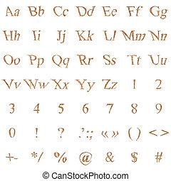 αλφάβητο , καμβάς
