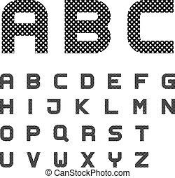 αλφάβητο , κολυμβύθρα , μαύρο , ανακόπτων , γράμματα