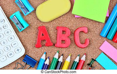αλφάβητο , λέξη , πίνακας , φελλός