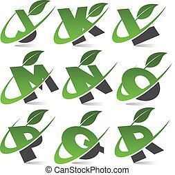αλφάβητο , 2 , θέτω , πράσινο , swoosh