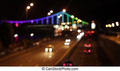 αμαυρώνω , φόντο , από , ένα , βράδυ , city.