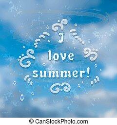 αμαυρώ , θαμπάδα , ουρανόs , καλοκαίρι , time., φόντο.