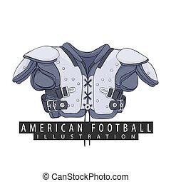 αμερικάνικο ποδόσφαιρο , εξοπλισμός