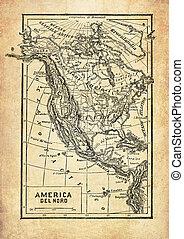 αμερική , κρασί , βόρεια , χάρτηs