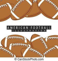 αμερικανός , αρχίδια , φόντο , ποδόσφαιρο