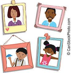 αμερικανός , οικογένεια , αφρικανός