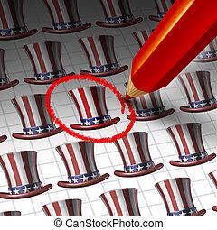 αμερικανός , υποψήφιος , εκλεκτός