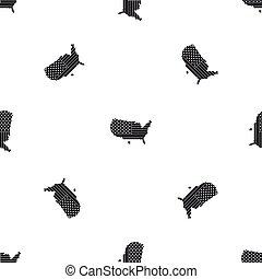 αμερικανός , χάρτηs , πρότυπο , seamless, μαύρο