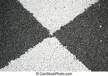 αμμοχάλικο , μαύρο , πλοκή , άσπρο