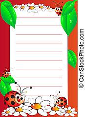 αμυντική γραμμή , σημειωματάριο , σελίδα , παιδί , κενό