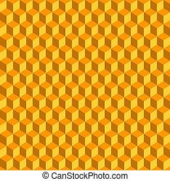 ανάγω αριθμό στον κύβο , αφαιρώ , seamless, φόντο. , μικροβιοφορέας , πορτοκάλι , 3d