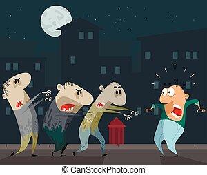 ανάκρουση , zombies, άντραs