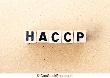 ανάλυση , εμποδίζω , διακόπτης , points), ξύλο , φόντο , haccp, (hazard, γράμμα , επικριτικός , λέξη