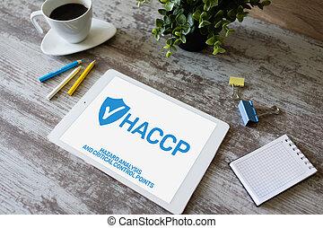 ανάλυση , ποιότητα , haccp, διακόπτης , διεύθυνση , point., μέτρο , δικάζω , επικριτικός , - , κίνδυνοs , βεβαίωση