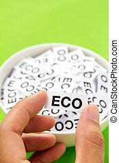 ανάμιξη αμπάρι , eco, σήμα , γενική ιδέα