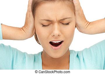 ανάμιξη , γυναίκα , αυτιά