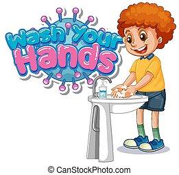ανάμιξη , δικό σου , πλύση , σχεδιάζω , αγόρι , πλένω , αφίσα