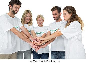 ανάμιξη , εθελοντές , άθροισμα δίπλα , νέος