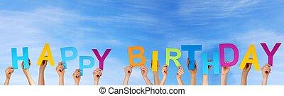 ανάμιξη , κράτημα , ευτυχισμένα γεννέθλια