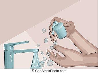ανάμιξη , πλύση