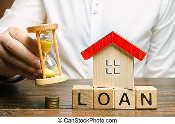 ανάμιξη , τόκος , ξύλινος , rates., εξαγορά , ή , lending., πιστώνω , διαμέρισμα , κλεψύδρα , κορμός , γενική ιδέα , λέξη , debt., πληρωμή , υποθηκεύω , businessman., μινιατούρα , δάνειο , σπίτι