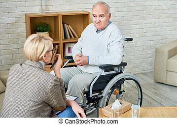 ανάπηρα , αρχαιότερος , θεραπεία , άντραs