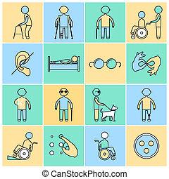 ανάπηρος , αδρανής αμυντική γραμμή , θέτω , απεικόνιση