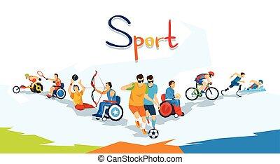 ανάπηρος , αθλητής , αγώνισμα , σημαία , αγώνας